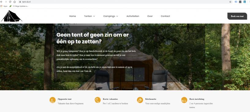 Website voor het verhuren van tenten (1)