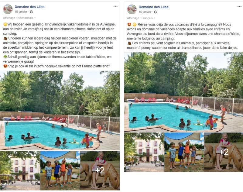 Frans-nederlands-meertalig-facebook-bericht