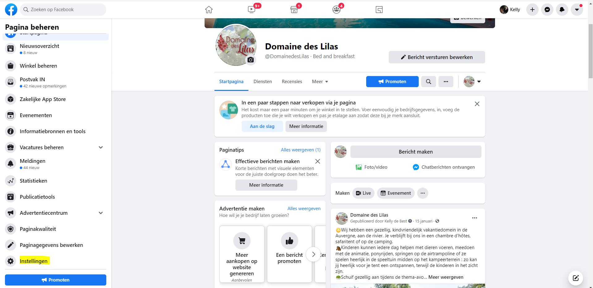 meertalige-facebook bericht maken - stap 1